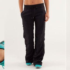 Lululemon studio pant black lined* size 10